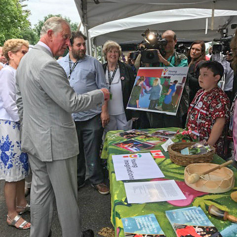 Prince Charles is curious about Young Imaginations and it's programs